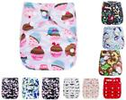 Baby Cloth Diapers OneSize Reusable Pocket Nappy 1 Insert For Newborn