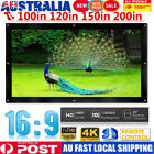 60-200 Inch Wall Mount Outdoor Movie Projector Projection Screen Curtain Film AU