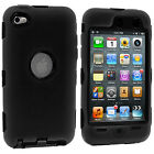 For Apple iPod Touch 4 - 4th Gen Hybrid Defender Slim Armor Impact Case Cover
