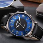 Retro Design Men Casual Leather Band Analog Alloy Quartz Round Wrist Watch image