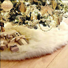 78 90 122CM White Christmas Tree Skirt Stand Apron Ornaments Party Home Decor