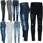 Kids Girls Skinny Jeans Denim Ripped Fashion Stretchy Pants Jeggings 3 13 Years