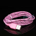 0FF6 2M Micro USB Charging Cable Adapter Smartphone Data Sync Braided Nylon