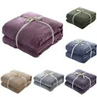 Flannel Blanket Soft Warm Faux Fur Throw Fleece Blanket Mink Sofa Bed Warm US image