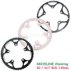 Driveline CNC 7075 Alloy 10/11 Speed Chainring 60/61T, BCD 130mm , Black,Silver