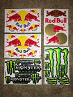 Red bull stickers! Monster Stickers! Energy drink stickers racing decal