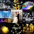 LED Fairy Lights String Solar Power 30/50/100/200 Outdoor Party Wedding Xmas UK