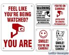 """You're On Camera Sign  Funny Security Signs  7"""" x 10"""" Aluminum  Many Options"""