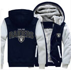 Winter verdicken Hoodie Team Oakland Raiders wärme Sweatshirt Lacer Zipper Jacke