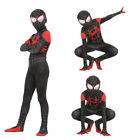 US Spider-Man Into the Spider-Verse Miles Morales Zentai Cosplay Costume Lycra