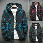 US Mens Fashion Camouflage Jacket Casual Hoodie Windbreaker Slim Fit Thin Coat