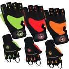 Weight Lifting Padded Leather Gloves Fitness Training Body Building Gym Sports