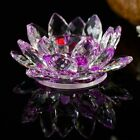 Lotus Flower Candle Holders Handmade Crystal Glass Candlestick Table Home Decor