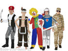 Boys Fancy Dress Up Costumes Indian Clown Knight Pirate Desert Army World Book