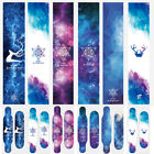 Aurora Skateboard Longboard Penny Cruiser Board Grip Tape Sticker Diamond Sheet image