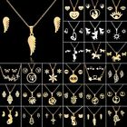 Kyпить Fashion Gold Stainless Steel Jewelry Set Women Pendant Necklace Earrings Wedding на еВаy.соm
