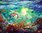 Sea Turtle Reef Hawaiian Island Tropical Fish Ocean Sealife Painting Prnt CBjork