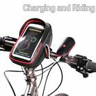 "Waterproof Bike Bicycle Touch Screen Handlebar Bag Holder Pouch 6"" Cell Phone"