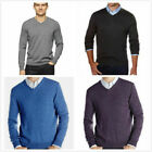 *NWT*Calvin Klein Men's Merino Wool Long Sleeve Pullover V-Neck Sweater Shirt