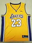 NBA #23 LA Lakers LeBron James Basketball Jersey Yellow/Black/Purple