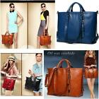 Women Ladies Handbag Shoulder Bag Tote Purse Messenger Oiled PU Leather Bag DD