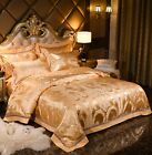 Metal Colors Silky Jacquard 100%Cotton Duvet Cover Bedding Set High Quality UPS image