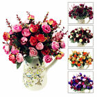 21 Heads Artificial Fake Rose Bouquet Silk Flower Leaf Wedding Party Home Decor#