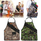 Outdoor BBQ Barbecue Cooking Waterproof Aprons With Beer Can Opener Belt Camping