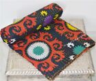 Indian Hippie Handmade Twin Vintage Cotton Bed Cover Blanket-Quilt-Throw