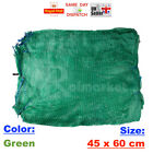 20 > 45x60cm GREEN NET SACK BAGS MESH FRUITS VEGETABLES WOOD CARROT ONION POTATO