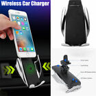 Automatic Clamping Wireless Fast Charging Car Charger Mount For iPhone X XR Max