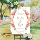 Personalised Welcome To Our Wedding Sign Poster Floral Engagement Birthday Party