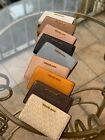 NWT MICHAEL KORS MK LOGO PVC JET SET TRAVEL SLIM BIFOLD WALLET IN VARIOUS COLORS