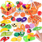 24PC Kids Pretend Role Play Kitchen Fruit Vegetable Food Toy Cutting Gift Toy