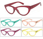 1 or 3 Pair Cat Eye Translucent Colorful Frame Full Lens Reading Glasses Readers