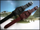 Bund Open End Leather watchband Military strap IW SUISSE 10 12 14 16 18 19 20 22 image