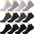 12 Pairs Boys Ankle Socks - Preschool to Teen Thin Socks for Kids 4-13 Years Old