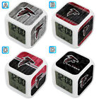 Atlanta Falcons Digital LED Clock Multi Color Changing Alarm Desk Decor on eBay