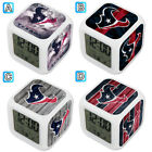 Houston Texans Digital LED Clock Multi Color Changing Alarm Desk Decor