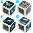 Philadelphia Eagles Digital LED Clock Multi Color Changing Alarm Desk Decor