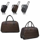 Unisex Geometric Holdall Trolley Weekend Bag Hand Luggage Holiday Travel Handbag