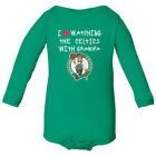 Boston Celtics Love Watching With Grandpa Baby Long Sleeve Bodysuit on eBay