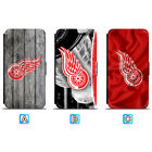 Detroit Red Wings Leather Flip Case For iPhone X Xs Max Xr 7 8 Galaxy S9 S8 $8.49 USD on eBay