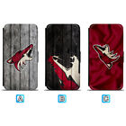Arizona Coyotes Leather Flip Case For iPhone X Xs Max Xr 7 8 Galaxy S9 S8 $8.49 USD on eBay