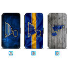 St. Louis Blues Leather Flip Case For iPhone X Xs Max Xr 7 8 Galaxy S9 S8 $8.99 USD on eBay