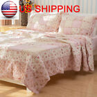 Shabby Chic Roses Patchwork Quilt Throw Blanket Coverlet Bedspread Set QUEEN image