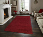 Woolly Area Rugs Solid Colors 5x7 and 8x10 Contemporary Living Room Carpet Decor