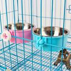 Hang-on Bowl Metal For Pet Dog Cat Crate Cage Food Water Bowl -LIN