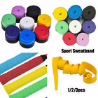 1/2/3pcs Absorb Sweat Racket Anti-slip Tape Handle Grip Tennis Badminton Band