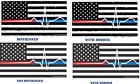 Vineyard Home Decor Back The Red & Blue Decal - Thin Blue/Red Line Flag EMS Christmas Home Decorating